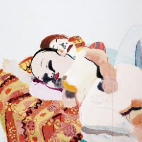 "Wang Yuping ""She Will Go Home Tomorrow"" oil and acrylic on canvas 150 x 120 cm 2006 290x290 - Wang Yuping"