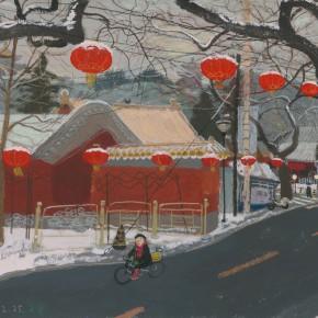 "Wang Yuping ""Snow on Lights"" acrylic and oil pastel on paper 57.5 x 72.5 cm 2013 290x290 - Wang Yuping"