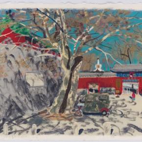 "Wang Yuping ""South Gate of North Sea"" acrylic and oil pastel on paper 57.5 x 72.5 cm 2013 290x290 - Wang Yuping"