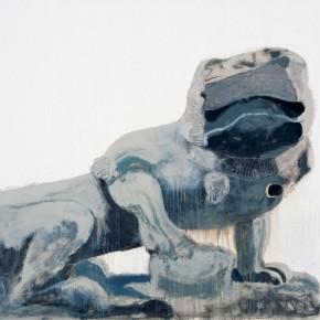 "Wang Yuping ""Stone Lion of Bai Ta Si Female"" oil painting and acrylic 120 x 160 cm 2010  290x290 - Wang Yuping"