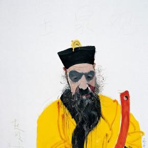 "Wang Yuping ""Taoist Priest No.1"" oil painting and acrylic 150x120cm 2007 290x290 - Wang Yuping"