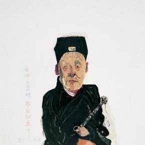 "Wang Yuping ""Taoist Priest No.2"" oil painting and acrylic 150x120cm 2007 290x290 - Wang Yuping"