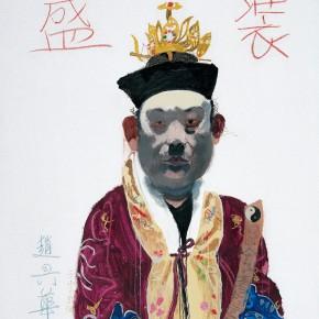 "Wang Yuping ""Taoist Priest No.4"" oil painting and acrylic 150x120cm 2007 290x290 - Wang Yuping"