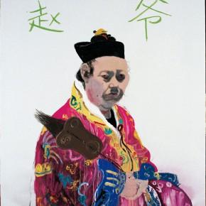 "Wang Yuping ""Taoist Priest No.7"" oil painting and acrylic 190x150cm 2007 290x290 - Wang Yuping"
