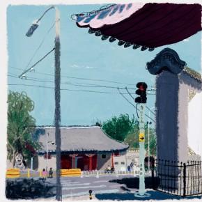 "Wang Yuping ""The Admiralty of Qing Dynasty"" acrylic oil pastel 58 x 72 cm 2011 290x290 - Wang Yuping"