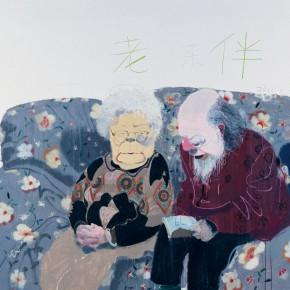 """Wang Yuping """"The Old Couple"""" oil pastel acrylic 190 x 230 cm 2011 290x290 - Wang Yuping"""