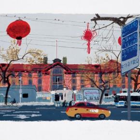 """Wang Yuping """"The Red Building of Peking University"""" 290x290 - Wang Yuping"""