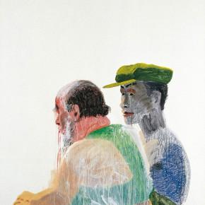 "Wang Yuping ""The Weird Eyes"" oil painting and acrylic 150 x 120 cm 2006 290x290 - Wang Yuping"