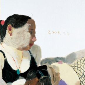"Wang Yuping, ""Two Miss Li"", oil on canvas, 92 x 76 cm, 2005"