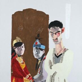 "Wang Yuping ""Uyghur Girls and Boy"" oil and acrylic on canvas 200 x 160 cm 2009 290x290 - Wang Yuping"