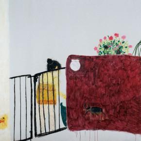 "Wang Yuping ""Water Flowers"" oil painting and acrylic 190 x 220 cm 2008 290x290 - Wang Yuping"