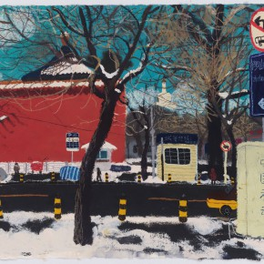 """Wang Yuping """"West Gate of North Sea"""" acrylic and oil pastel on paper 57.5 x 72.5 cm 2013 290x290 - Wang Yuping"""