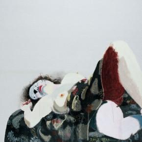 "Wang Yuping ""Woman Model No.2"" oil and acrylic on canvas 200 x 160cm 2009 290x290 - Wang Yuping"