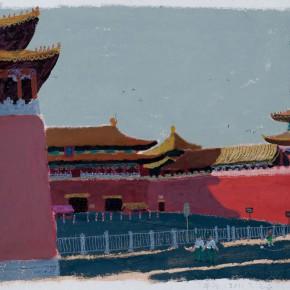"""Wang Yuping, """"Wu Men"""", acrylic, oil pastel, 58 x 68 cm, 2011"""