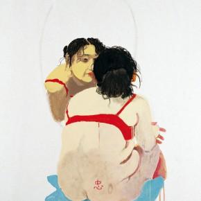 "Wang Yuping ""Zhong Sincere"" oil and acrylic on canvas 150 x 120 cm 2006 290x290 - Wang Yuping"