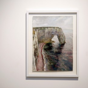 Work 01-Etretat (Normandie, France) by Han Xin, 1999; gouache on paper