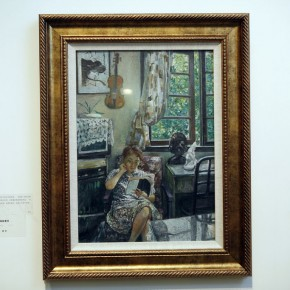 Work 05-Yonger sister was reading by Han Xin, 1974; oil on paper