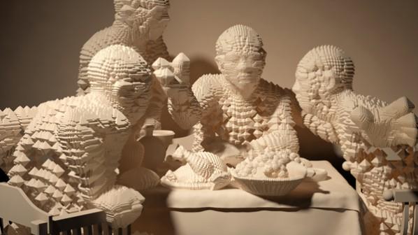 "Metamorphosis - Supper - Miao Xiaochun, 2011; Media: 3D Computer animation/ Duration: 1'00"""