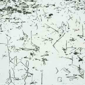 01 Liu Liping-Shadow of Lotus, 2009; silkscreen, 144×77cm