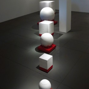 08 Hemispherical Dome, 2007; sculpture of paper, 280×60×150cm