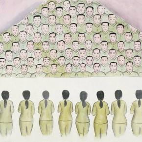 20 Wu Yi-Festivals No.3, 2010; Ink on silk, 67×138cm