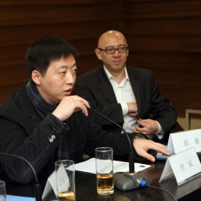 2011 Annual Nominated Exhibition of Plastic Arts 09-Vice Director of CAFA Art Museunm Tang Bin chaired the press conference