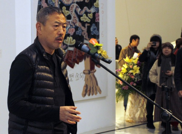 2011 Annual Nominated Exhibition of Plastic Arts 16-Wang Yuping spoke at the opening ceremony
