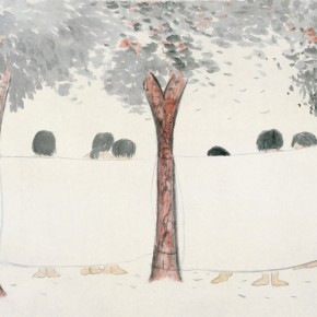 21 Wu Yi-Afternoon No.3, 2010; Ink on paper, 70cm×140cm