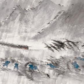 22 Wu Yi-Night, 2010; Ink on paper, 70×140cm