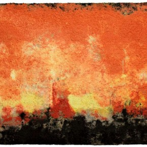 24 Zhou Jirong-Dusk, 2011; Pulp Synthesis, 100x200cm
