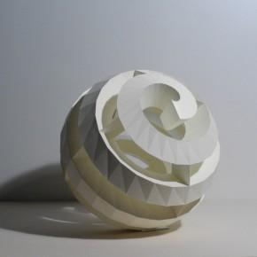 25 KIDO OSAMU-Spiral-p1 P1, 2011; paper, 54×54×54cm