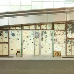 43 THOSHINA TOYOMI- here is here Here is there, 2011; installation, 100×886.3×244.3cm