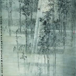 Bian Kai-Landscape Series 02-Drawing of Frosty Rain