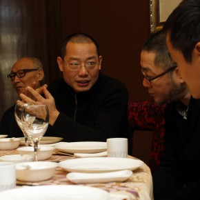 03 Mr. Chen Qi, Artistic Director of CAFA ART INFO communicated with Mr. Wang Huangsheng, Director of CAFA Art Museum and Mr. Tang Keyang, Architectural Curator of 2010 Venice Biennale.