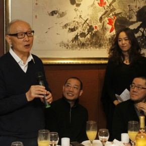 02 Mr. Shao Dazhen, venerable art theorist and honorary adviser of CAFA ART INFO addressed before the opening.