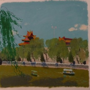 Wang Yuping-Sketch of the Forbidden City 04; acrylic and pastels on paper, 68cm×58cm