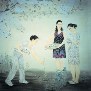 Zhang Meng-Silent Fallen Flowers