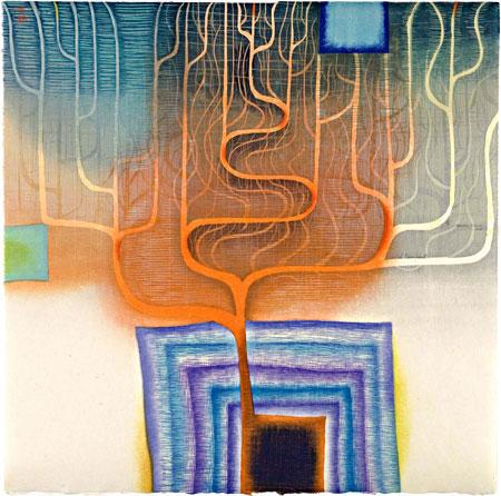 Karen Kunc-Wild Remnant, 2009. Woodcut. 18 x 18 inches