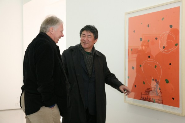 Prof. Tan Ping and German Artist; Photo:Wu Qiong/Press Department of CAFA