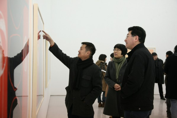 Visitors from the Central Academy of Fine Arts; Photo:Wu Qiong/Press Department of CAFA