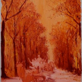 01 Chen Ke-Sunrise and Sunset No. 23, Oil on canvas, 200 x 160 cm, 2011