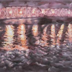 04 Han Qing-Bridge with Light, oil on canvas, 115X145cm, 2009