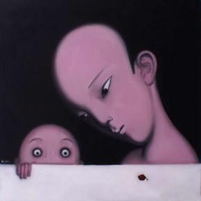 05 He Zunbin-Traces, oil on canvas, 80X80cm, 2010