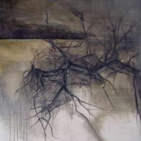 07 Li Xiang-Night Scene No.1, Mixed media on canvas, 130 x 200 cm, 2010