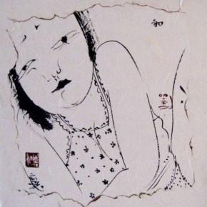 08 Liu Qinghe-Piggy No. 4, Ink on paper, 15 x 15 cm, 2007
