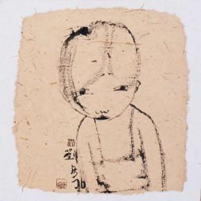 09 Liu Qinghe-Piggy No. 16, Ink on paper, 15 x 15 cm, 2007