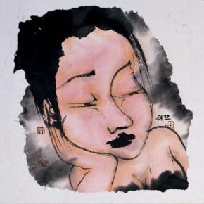 10 Liu Qinghe-Piggy No. 5, Ink on paper, 15 x 15 cm, 2007