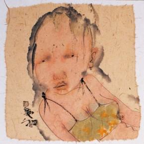 11 Liu Qinghe-Piggy No. 9, Ink on paper, 15 x 15 cm, 2007