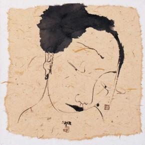 12 Liu Qinghe-Piggy No. 15, Ink on paper, 15 x 15 cm, 2007