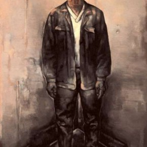 19 Su Xinping-Street Series No. 6, Oil on canvas, 200 x 130 cm, 2002